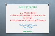 Otizm Riskli Bebekler Eğitim Programı (ORBEP)- 0-3 YAŞ/Zoom-Online Eğitim