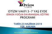 OTİZM VAKFI 3-7 yaş EYDE(Erken Yoğun Davranışsal Eğitim Programı)-ANKARA