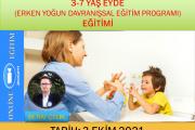 3-7 yaş EYDE(Erken Yoğun Davranışsal Eğitim Programı) Zoom-Online Eğitim(ekim)